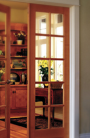 замена стекла в межкомнатную дверь